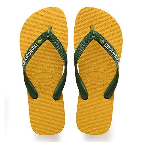 Havaianas Brasil Logo, Unisex-Erwachsene Zehentrenner, Gelb (Banana Yellow), 35/36 EU