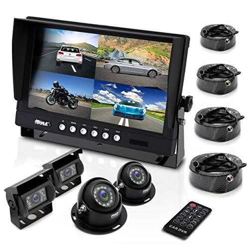 Pyle Wetterfeste Kamera-System (17,8 cm (7 Zoll) LCD-Farbmonitor, (4) IR-Nachtsicht-Kameras, Dual-DC-Spannung) Pyle 7