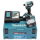 Makita DTD171RTJ - Atornillador de impacto (18 V, 5,0 Ah, 180 Nm, 2 baterías y cargador)