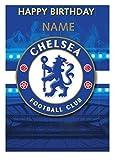 personalisiert Chelsea Fußballmannschaft Geburtstagskarte - hinzufügen Name