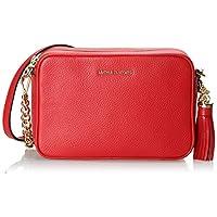 حقيبة جيني بتصميم طويل يمر بالجسم للنساء من مايكل كورس - لون احمر فاتح - 32F7GGNM8L