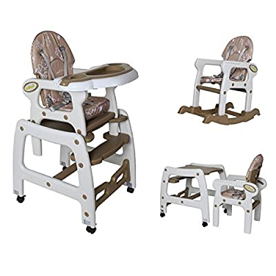 Seelux® 3in1 High Chair Table & Chair Set Adjustable Rocking Chair