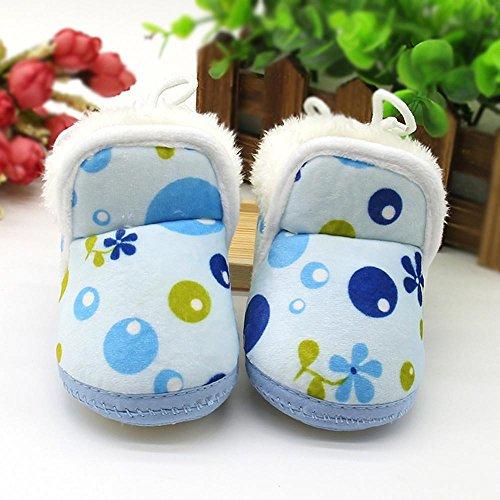 Chaussures souples,Covermason Enfant en bas âge nouveau-né coeur imprimé bottes chaussures semelle souples Prewalker chaussures chaudes (13, A) E