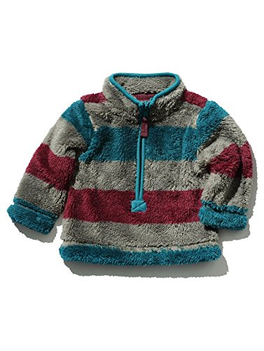 mco-baby-boys-long-sleeve-stripe-pattern-half-zip-funnel-neck-sherpa-fleece-grey-0-3-mnths