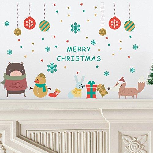 Preisvergleich Produktbild JUNGEN Weihnachts-Schmuck Vintage Weihnachten Dekoration für Haus / Partei / Hochzeit / Festival / Weihnachtsdekorationen Weihnachtsdekoration Wandsticker