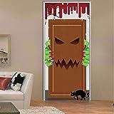 Fqz93in Aufkleber Der Tür 3D 3D Durch Aufkleber Albtraum Vor Weihnachtsaufklebern Porte Kleber Durch Aufkleber Wasserdicht