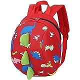 Amint Dinosaur 3D Design Safety Leash Harness Bag Backpack For Toddlers Kids Red