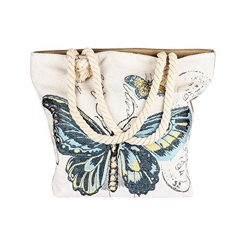 Colleer, Strandtasche Mehrfarbig Butterfly Blue (Butterfly Hobo Bag)