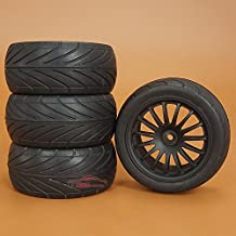 Junsi 4*Rubber Offset Cross-Country Tires Tyre Neumatico Nylon Wheel Rueda Rim for 1/10 RC Truck Buggy