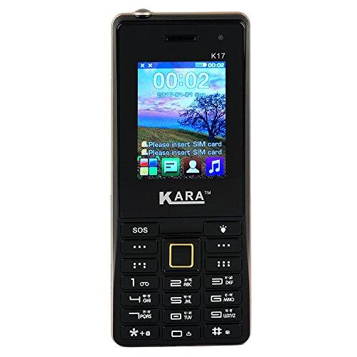 Kara K-17 Big Speaker, 4000 MAH, Big Torch Light Mobile Phone (Black)