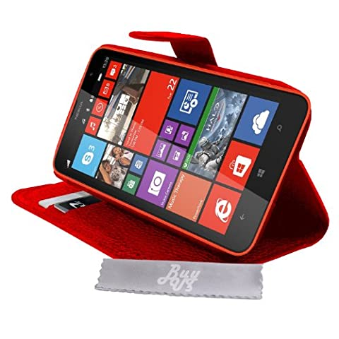 Etui Housse Luxe Rouge Stand & Portefeuille pour Nokia Lumia