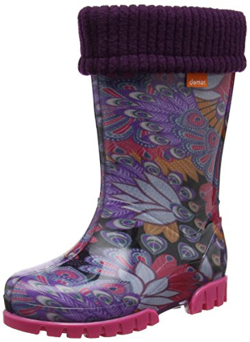 Toughees Shoes Unisex-Kinder Character Welly with Removable Sock Gummistiefel Violett (Violett)
