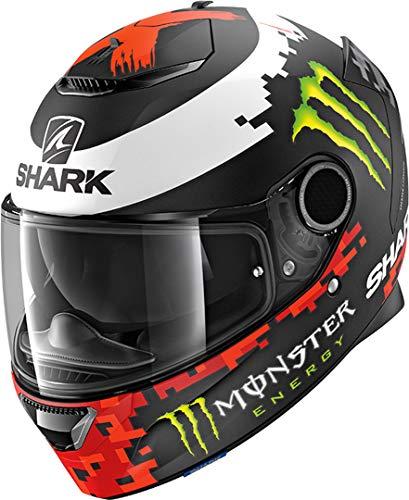 Shark Casco Integrale Spartan Replica Lorenzo Monster 2018Nero Rosso Verde KRG opaco Taglia M