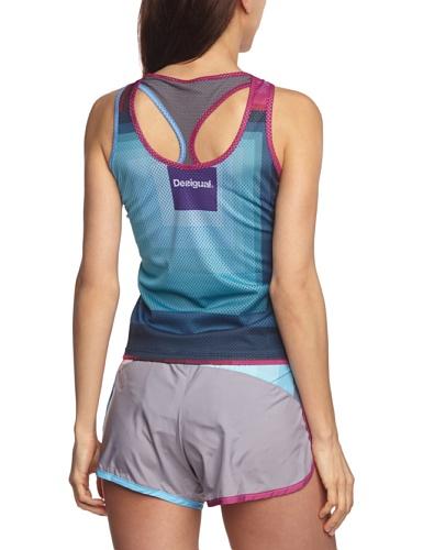 Desigual Sport Vero T-Shirt Femme Gris Greta