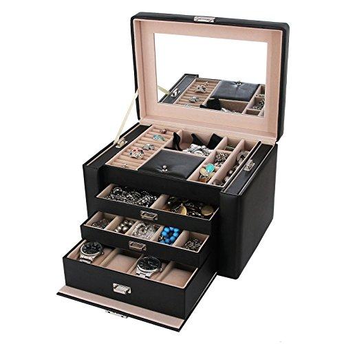 Songmics-Caja-Joyero-Joyas-Aretes-Dijes-anillo-de-la-pulsera-joyera-caja-de-almacenamiento-de-regalo