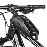 GDRAVEN Bike Top Tube - Bolsa para Bicicleta (Resistente al Agua, 24 x 10 x 8 cm), Color Negro