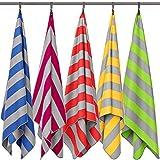 Fit-Flip Strandhandtuch XXL 200x100cm / Weinrot - Grau gestreift- badetücher handtücher, Badetuch 100x200, Strandtuch groß 100x200, Handtuch groß 200