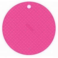VI. yo salvamanteles de silicona antideslizante resistente al calor Pot Pan para mantel individual cocina alimentos Mat Placemat pad, 1pieza, silicona, rojo rosado, 180*180*8mm