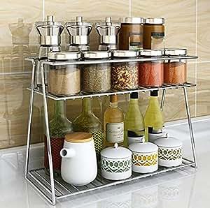 Buy INDIAN DECOR 31500 Kitchen Storage Shelf Stainless ...