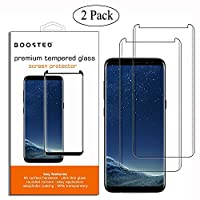CASE FRIENDLY, 2 Pack, Samsung Galaxy S8, BOOSTED 9H hardness Case friendy screen protector with Oleophobic Coating Anti Fingerprint Anti-Scratch High Touch Sensitivity, CLEAR