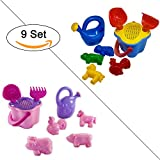 Sandkasten-Spielzeug Set Sandspielzeug für Strand, Buddelspielzeug, Mädchen und Prinzessinnen Version