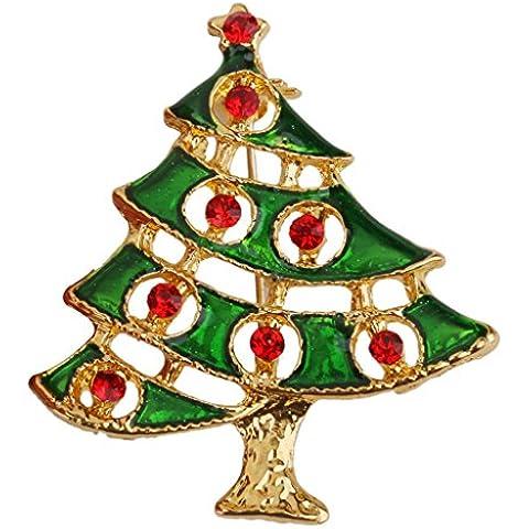 Natale Pin Albero Spilla Decorazione Di Strass Regalo Di Natale Di Favore Di Partito