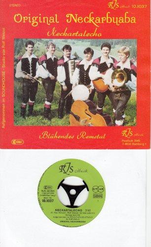 """NECKARBUABA ORIGINAL / Neckartalecho / Blühendes Remstal / Bildhülle / RJS Musik # 10.1037 / Deutsche Pressung / 7"""" Vinyl Single Schallplatte"""