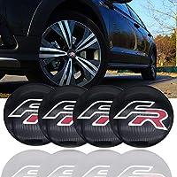 Tomeco 4pcs 56,5 M aluminio FR logo coche rueda centro calcomanía para Seat Leon