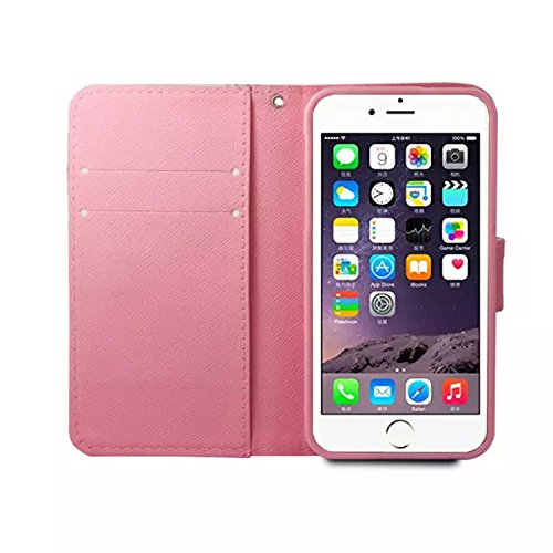 PU Cuir Coque Strass Case Etui Coque étui de portefeuille protection Coque Case Cas Cuir Swag Pour Apple iPhone 6S Plus (5.5 pouces)+Bouchons de poussière (O11) 13