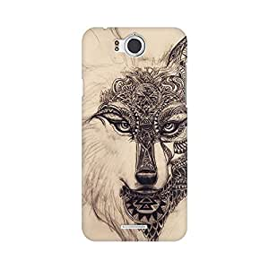 Mobicture Tribal Wolf Premium Printed High Quality Polycarbonate Hard Back Case Cover for InFocus M530 With Edge to Edge Printing