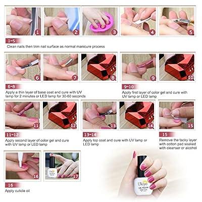 Ukiyo Gel Nail Polish Set Magnetic Cat Eye UV LED Soak Off Nail Polish Varnish Set with Free Remover Wraps and Magnetic Stick Gift