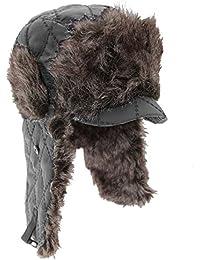 Bonnet trappeur thermique en fausse fourrure avec visière - Homme