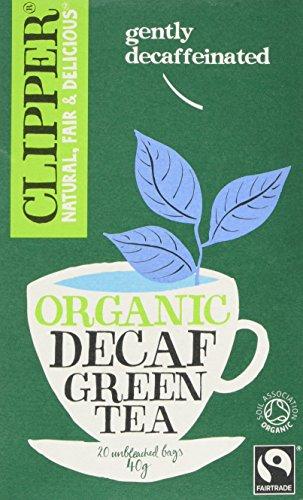 A photograph of Clipper organic fairtrade green