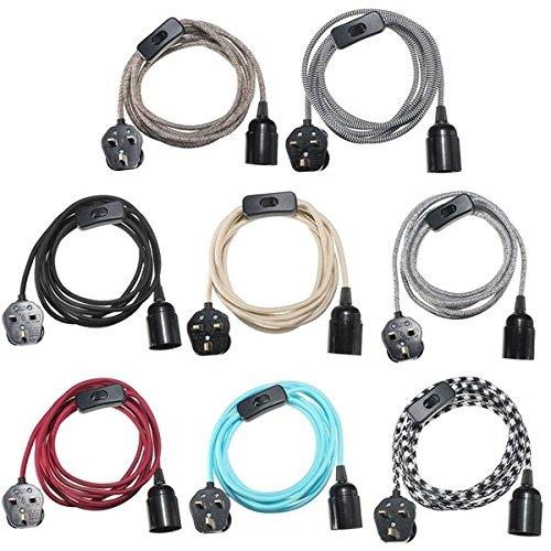 bazaar-e27-cable-de-3m-de-tissu-uk-prise-a-la-lumiere-de-lampe-suspension-reglee-douille-porte-ampou