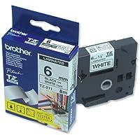 Brother TZ-211 Nastro per Etichettatura, 6 mm, Nero su Bianco - Confronta prezzi