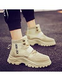 ZyuQ Stivali da uomo Autumn Men s Shoes Social Spirit Martin Boots Short  Boots Men s High Help a7799ace61b