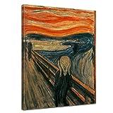 Bilderdepot24 Leinwandbild - Alte Meister - Edvard Munch - Der Schrei - 50x70cm einteilig - Kunstdruck - Bild auf Leinwand