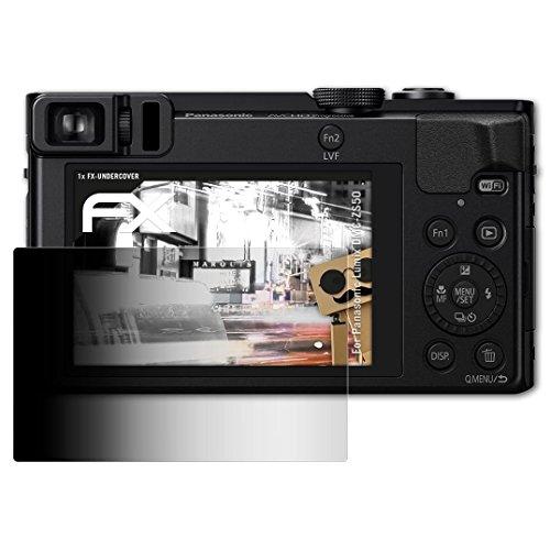 atFoliX Blickschutzfilter kompatibel mit Panasonic Lumix DMC-ZS50 Blickschutzfolie, 4-Wege Sichtschutz FX Schutzfolie