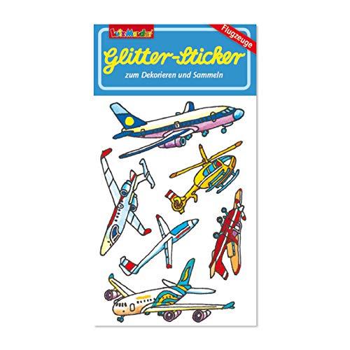 Neu 2019: Glitter-Sticker * Flugzeuge * von Lutz Mauder | 72297 | als Mitgebsel für Kinder | Aufkleber zum Kindergeburtstag & Basteln -