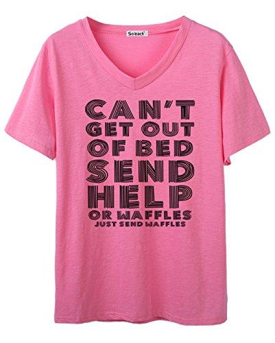 So'each Damen T-Shirt One size Rose