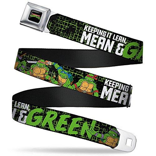 Las tortugas Ninja Cartoon serie de televisión mantenerlo Lean Mean y verde cinturón de seguridad cinturón