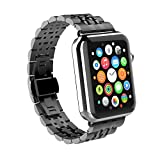 Apple Watch Armband 42mm, GOSCIEN Replacement Edelstahl Uhrenarmband, Wrist Strap Band,...