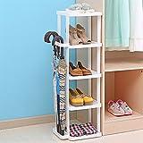 WEN HUI Kunststoff Schuhregal Multilayer Haushalt platzsparend Multifunktions Schuh Tower 5Paar Schuhe, über der Tür Organizer für Aufbewahrung von Schirme