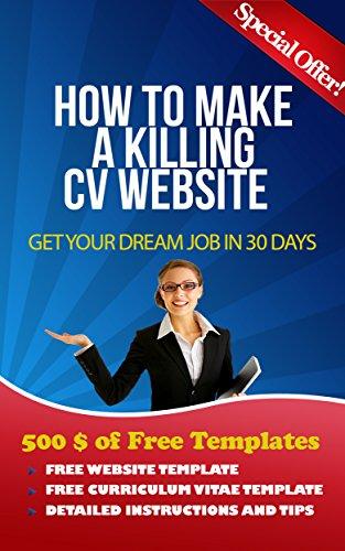 how to make a killing curriculum vitae website personal cv website