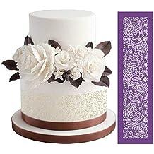 Fiesta Flores Tejido Cake malla plantillas para cake de boda molde PÃ ¢ tisserie herramientas de