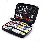 OFFICE HELPER Kit de costura para la oficina, caja de agujas portátil, 98 piezas de suministros de costura con agujas de coser accesorios para el hogar, oficina, viajes, emergencias