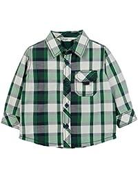Beebay Infant-boy White/Green Check Shirt (Green Check)
