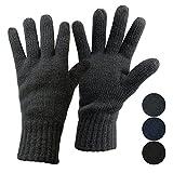 ALPIDEX Thermo Strickhandschuhe Dark Sheep mit Thinsulate für Damen und Herren Unisex Thinsulate Füllung Fingerhandschuhe für Erwachsene Größen S bis L, Größe:S, Farbe:Dark Grey