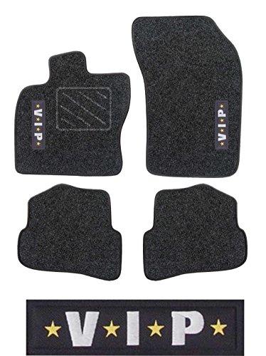 """Preisvergleich Produktbild Passform Fussmatte graphit mit Stickmotiv """"VIP"""" für Renault Clio Modell Collection ab Bj. 11/12 mit Mattenhalter Fahrermatte"""