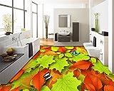 Xcmb 3D Bodenbelag Innen Dekoration Schöne Blätter Schmetterling Tapete Dreidimensionale Malerei-250 Cm X 175 Cm